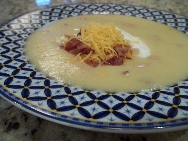 Cómo hacer sopa cremosa Cargado Baked Potato Receta