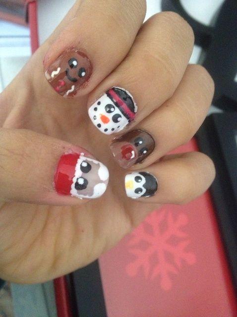 Cómo hacer Nails lindos de la Navidad