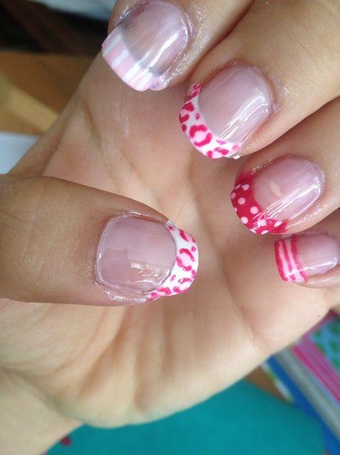 Cómo hacer lindas uñas de color rosa ??????