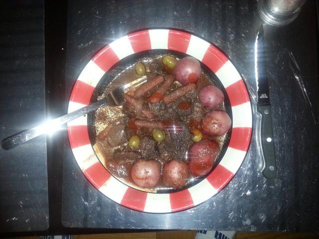 Et voila! Ello's great with steamed potatoes or pasta.. Bon appetit!!