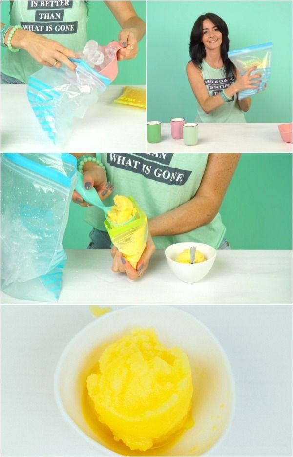 Cómo hacer delicioso y refrescante sorbete en tan sólo 5 minutos!