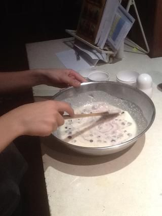 Paso 8: Revuelva una vez más, pero esta vez doblar las bayas en la mezcla.