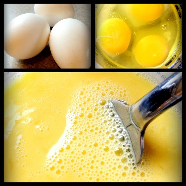 Batir 3 huevos