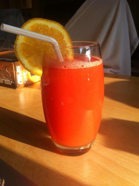 Cómo hacer deliciosa naranja y melón de agua Jugo Receta