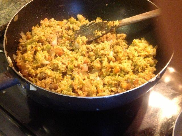 Cómo hacer delicioso vegetal Receta Arroz frito