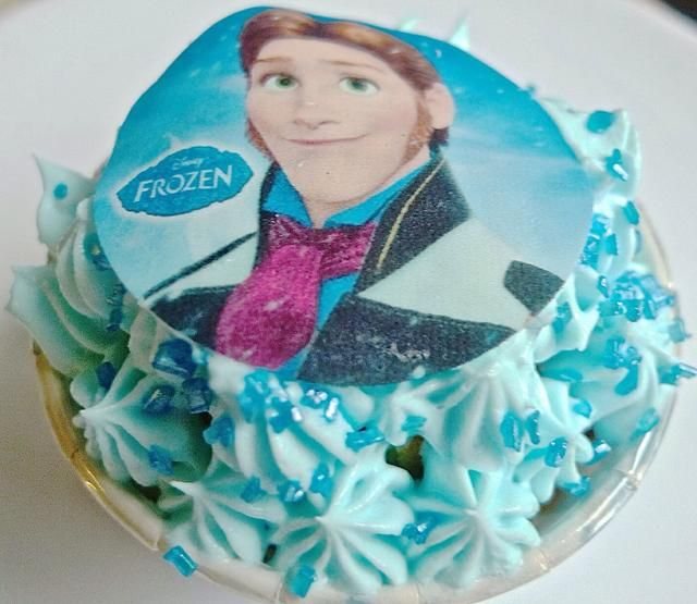 Top con Disney congelado foto comestible magdalena Topper.