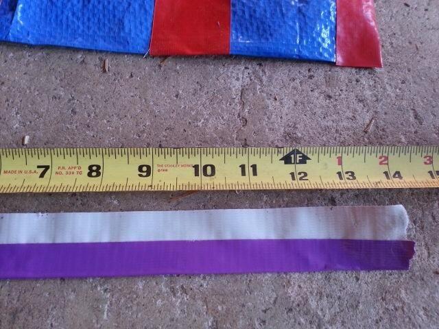 Correa de la cintura - arrancar un pedazo de cinta adhesiva o menos 14