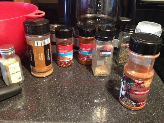 Añadir sus especias de elección! Ver ingredientes lista para ver lo que hacía