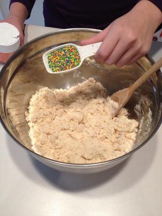 Añadir rocía para mezclar.