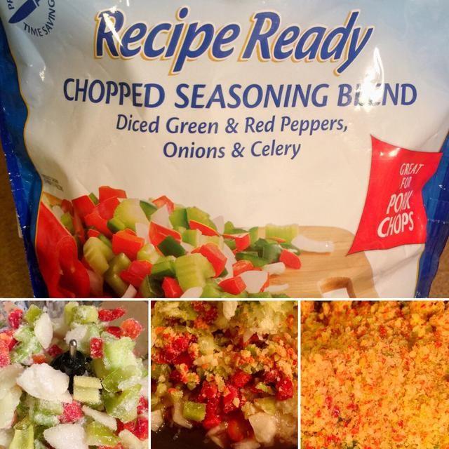 Si te gusta la salsa súper grueso, basta con añadir la bolsa de verduras a la sartén. Si no es así, los puso en el procesador de alimentos y luego transferir en cubitos / picado a la sartén.