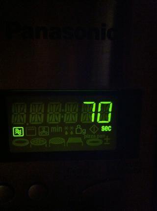 Ponga en el microondas durante 70 segundos. Mia's a 1000w so adjust time if needed.