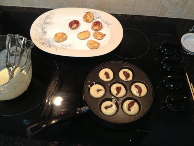 Segundo lote: Avellana llenado Spread. La primera tanda de plato, para que me rocié con dulces de azúcar.