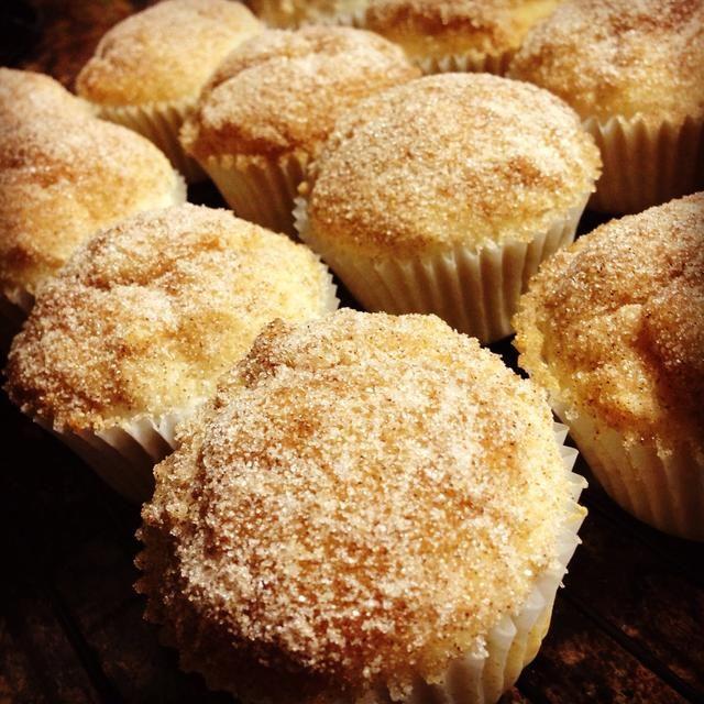 Y disfrutar de sus cálidos y suaves magdalenas mini-donuts!