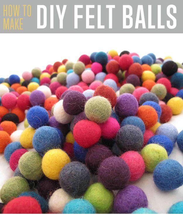 Fotografía - Cómo hacer bolas de fieltro
