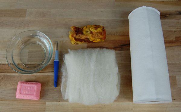 suministros fines de jabón de fieltro