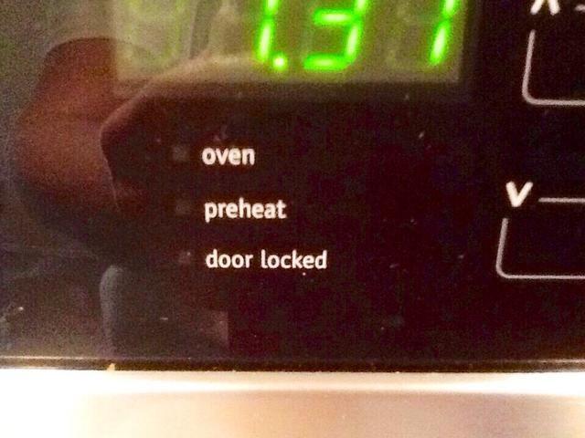 Asegúrese de cortar horno!