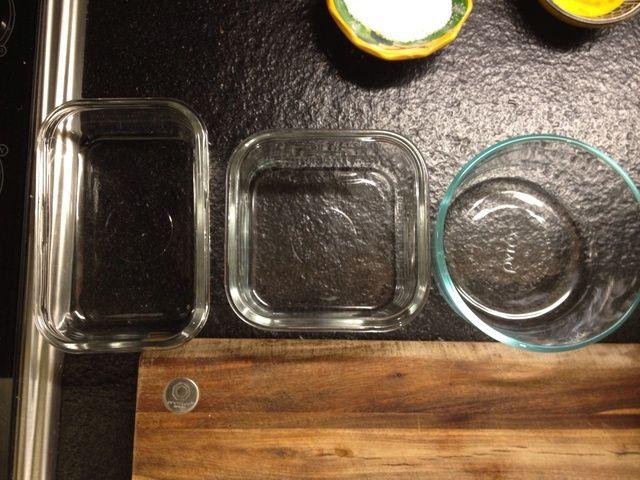 Obtener tres contenedores alineados