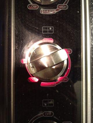 Ponga el calor en un medio para que la temperatura se mantiene.