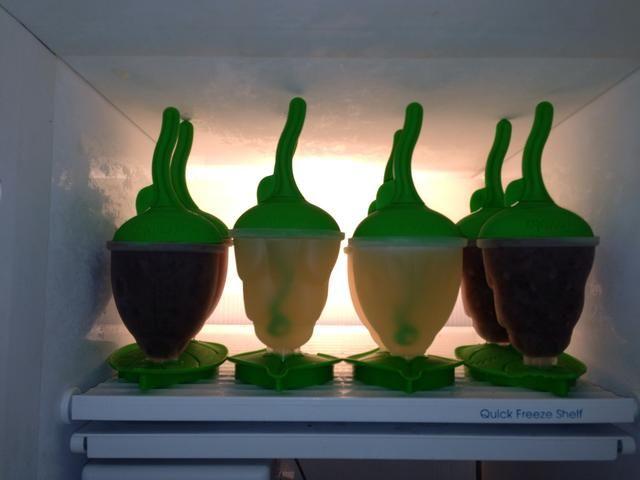 Mi formación en el congelador! Justo al lado de los estallidos smoothie! LifeSanity.com