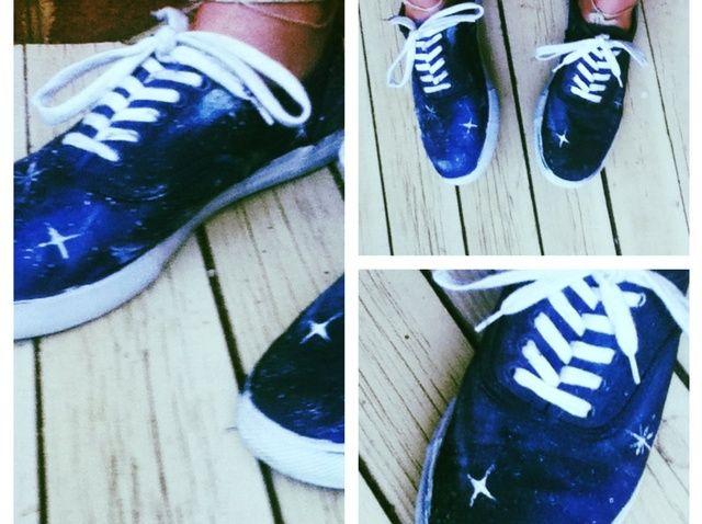 Cómo hacer zapatos Galaxy