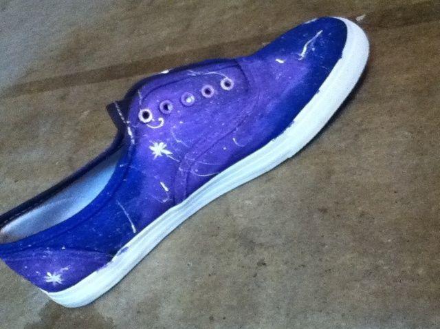 Cómo hacer zapatos Galaxy! :)
