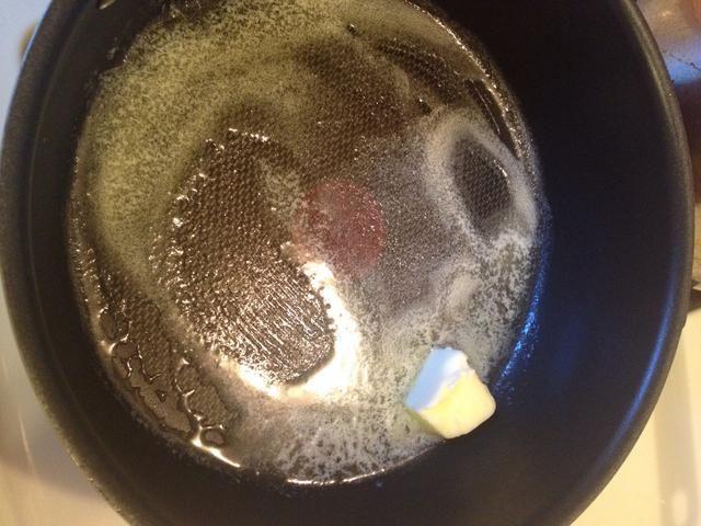 He utilizado esta mucho. Derretir la mantequilla y luego ...