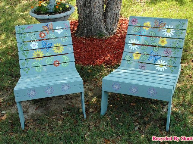 Cómo hacer sillas de jardín de paletas