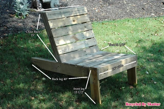 La imagen muestra las mediciones delanteros silla que utilizamos. Estas mediciones se pueden cambiar para adaptarse a su proyecto.