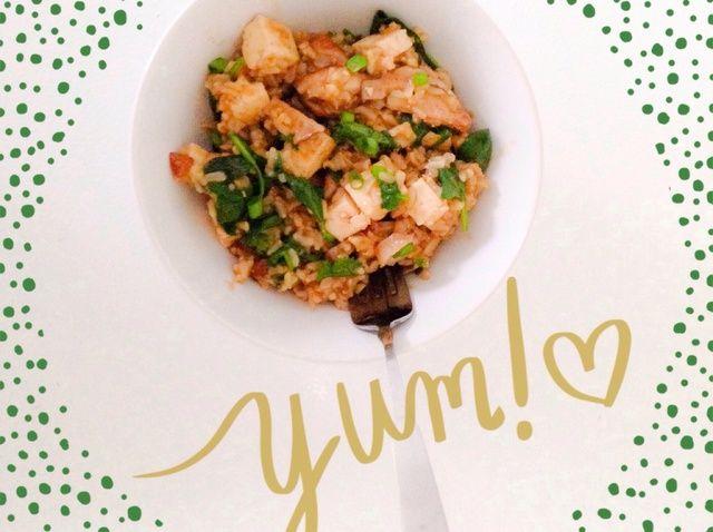 Cómo hacer ajo y jengibre Arroz W / champiñones y espinacas Receta