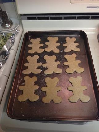 Hornee sus galletas en 375 durante 9 minutos! TADA !! =) Casa olía increíble!