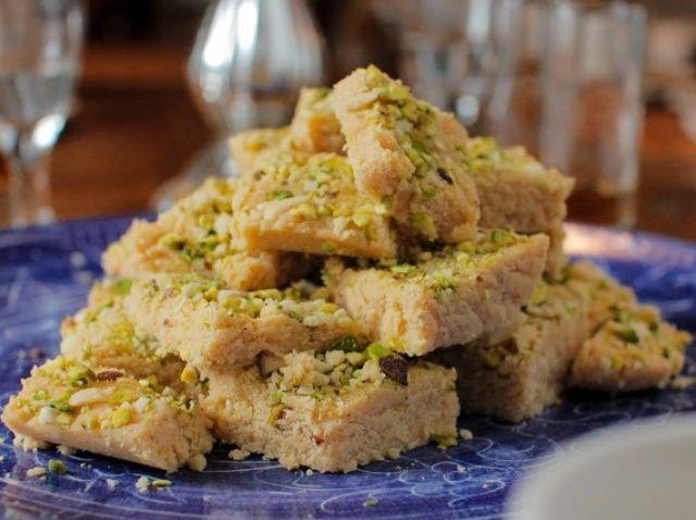 Cómo hacer sin gluten Almond Fudge Receta pistacho