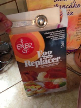 Añadir 1 cucharadita de sustituto de huevo