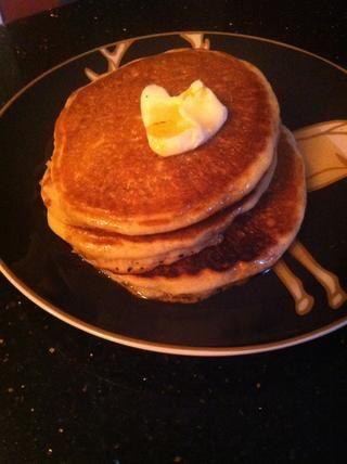 Calabaza de coco Leche Pancakes