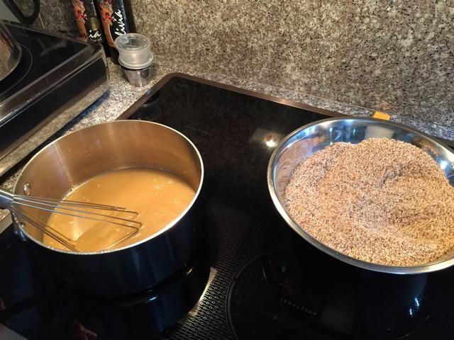 Listo para mezclar! Mezcle la mantequilla - mezcla de miel ...