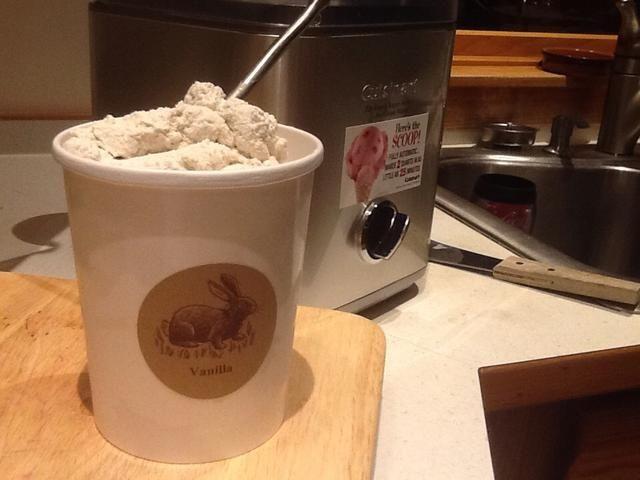 Ahí lo tienen, un gran helado de vainilla.