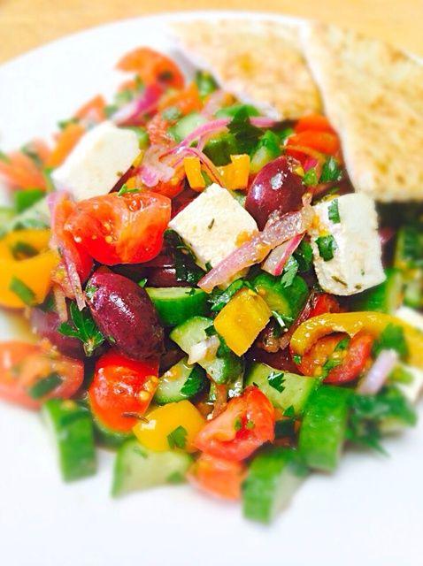 Cómo hacer ensalada griega Ilanit Estilo Receta