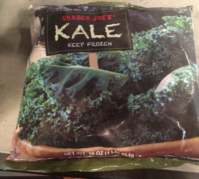 Trader Joe's only had conventionally grown frozen kale :)