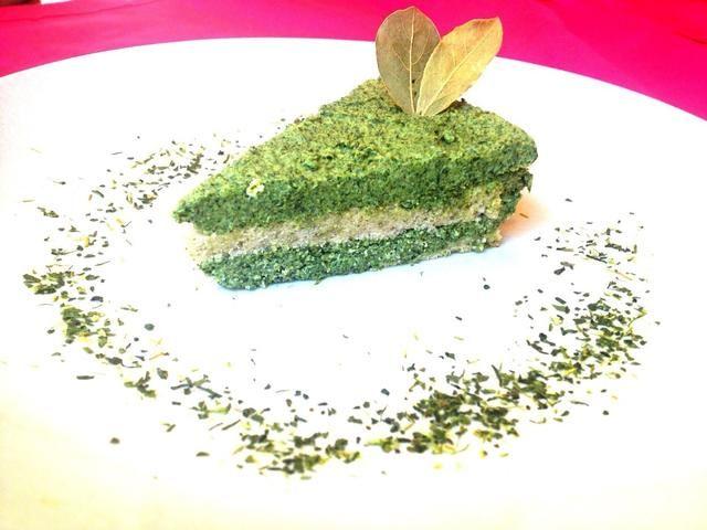 Disfruta! Tenga su torta de mousse de té verde!