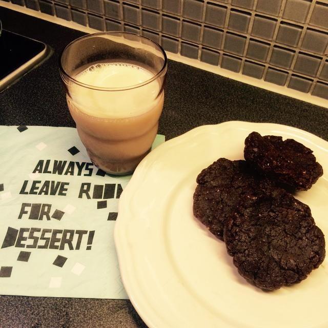 Disfrutar ?????? Serví la mía con un vaso de leche de soja ??????????????????