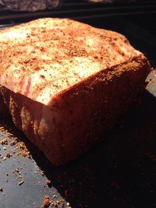 Puerto de la carne de cerdo en la nevera para descansar - Hago esto el día antes de cocinar