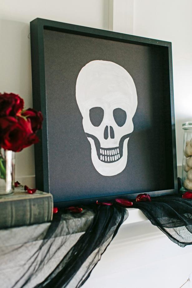 Fotografía - Cómo hacer arte de halloween cráneo