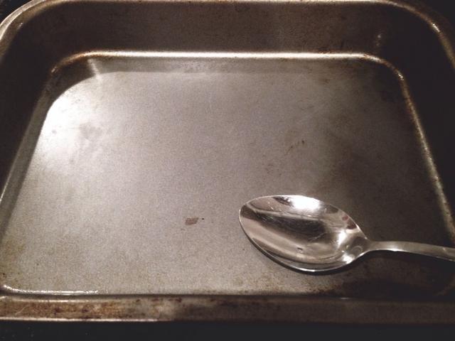 Herramientas: Cuchara, bandeja de horno