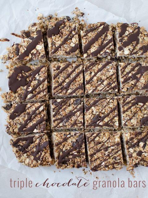 Cómo hacer Saludable Granola Barras de chocolate Receta