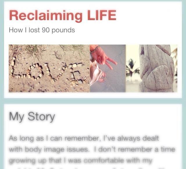 Siga mi blog vida sana reclaiminglifeblog.com Mi viaje al perder 90 libras, mantenerlo, y la recuperación de una nueva vida sana entero! Gracias por leer :)