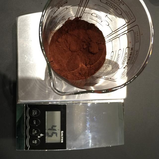 Añadir 45 g de cacao