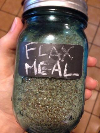 Ponga una pizca de harina de linaza por si acaso
