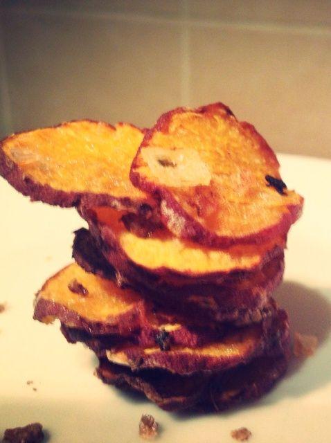Cómo hacer saludable y delicioso de la patata dulce ajo patatas fritas Receta