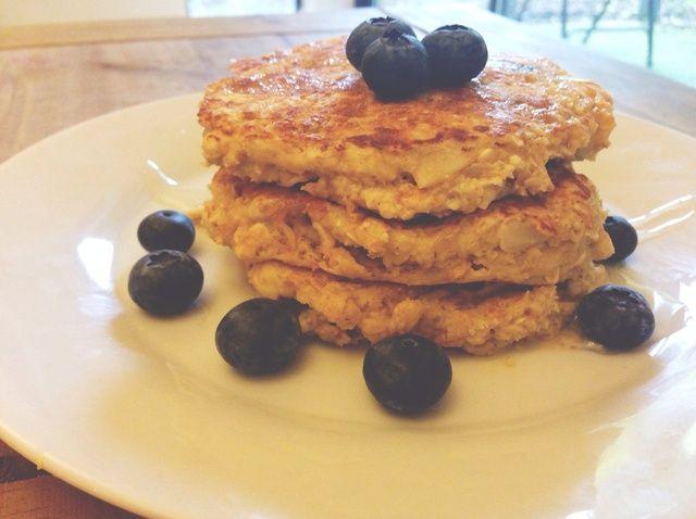 Cómo hacer griega saludable Yogur Almond Panqueques Receta
