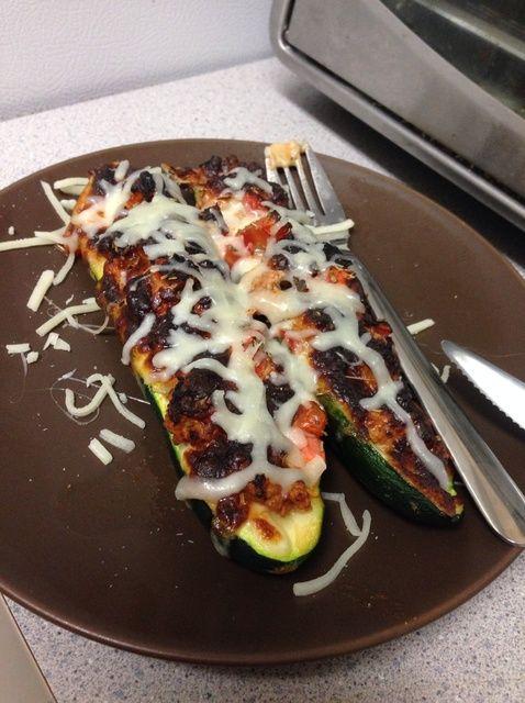 Cómo hacer Saludable calabacín pizza Receta