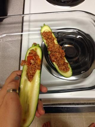 empezar a añadir la carne de calabacín